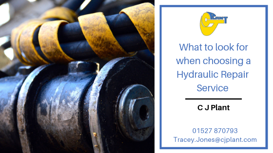 What should I look for when choosing a hydraulic repair service?