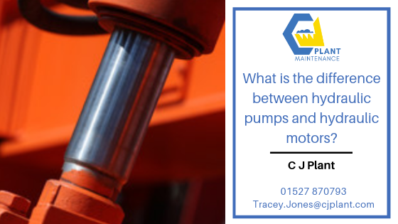 Different types of hydraulic pumps and motors.