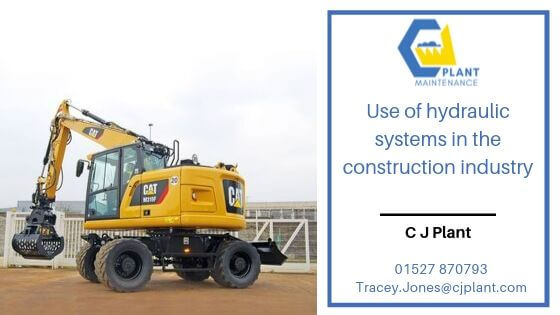 Use of hydraulic systems in the construction industry